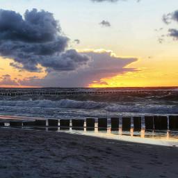 sunset sky nature balticsea