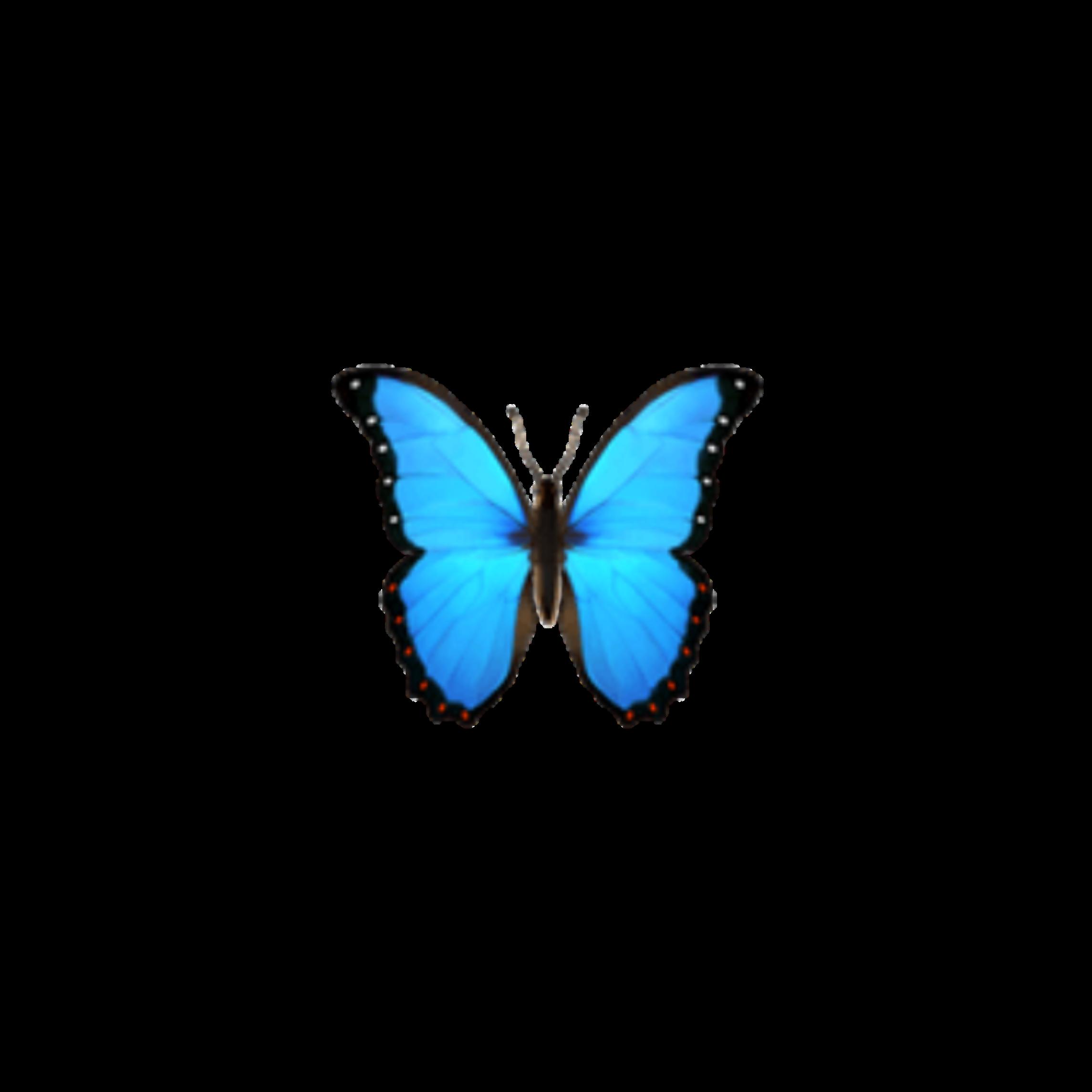 butterfly emoji blue butterflys iphone imoji applemoji...
