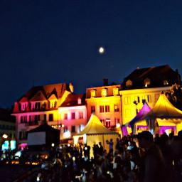 lightupbuildings night rockozfestival switzerland