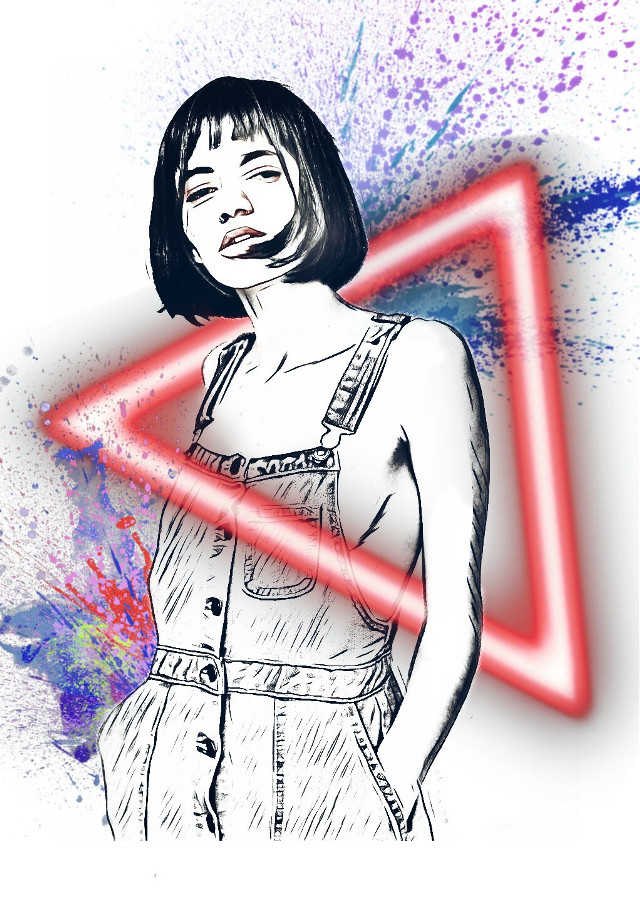 #freetoedit  #pencil_art art art #picsart #neonlights