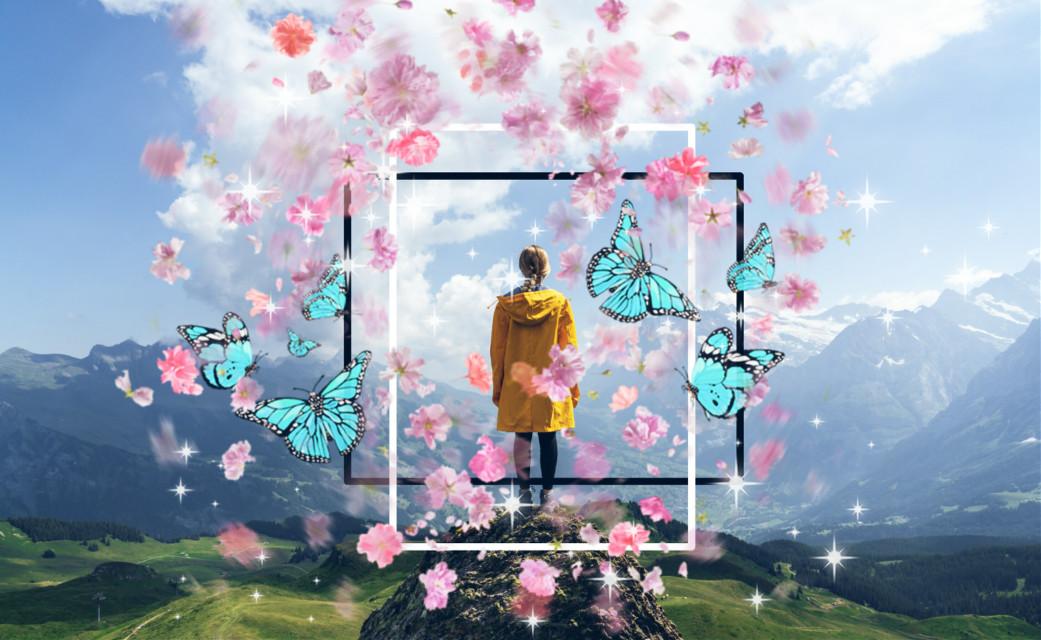 #freetoedit #girl #butterflys #shapetool