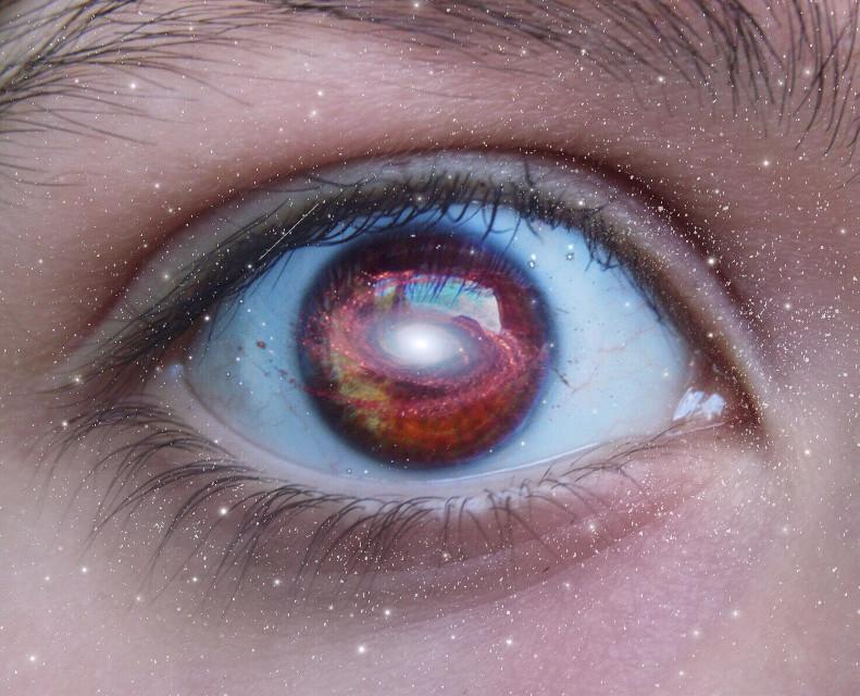 #freetoedit #eye #galaxy #surreal #stars #doubleexposure #manipulation #picsart