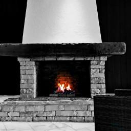 fireplace blackandwhite fire red warmplace