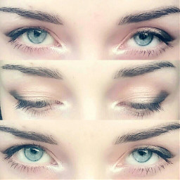 eyes makeup blue beautiful lovely freetoedit