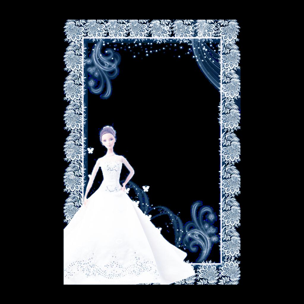 mq blue barbie frame frames border borders glitter...