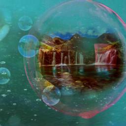 freetoedit burbujas hermoso paisaje numero1 ircsobubbly