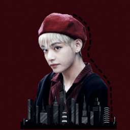 freetoedit red wallapers bts taehyung
