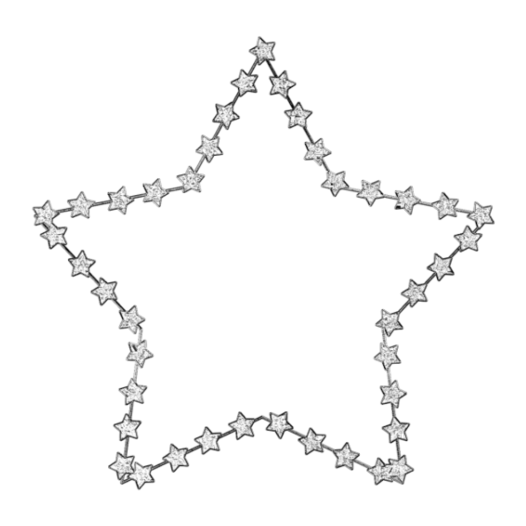 mq silver star stars frame frames border borders...