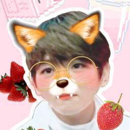 freetoedit exo baekhyun strawberryboy wallpaper