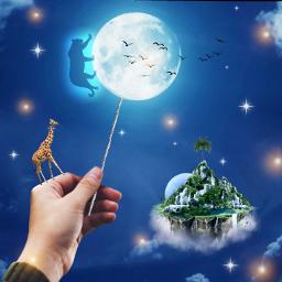 freetoedit moon surreal lollipop srcpanther