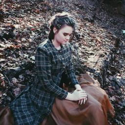 forest victorian fantasy dress modeling