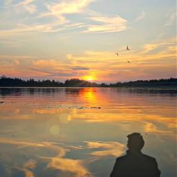 freetoedit riflesso acqua lago panorama eclensflare