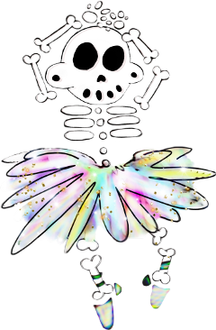 skeleton zanoskull bones dance ballet freetoedit
