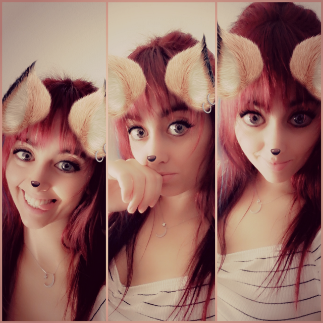 #filtrosdesnapchat @isabelgonzalez932 #kawaii #kawaiigirl #cute #filter #followforfollow #fotoedit #girl #redhair #ears_neko #beautiful