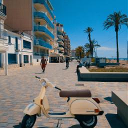 freetoedit vespa streetphotography beach