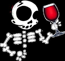 skeleton skull wine freetoedit