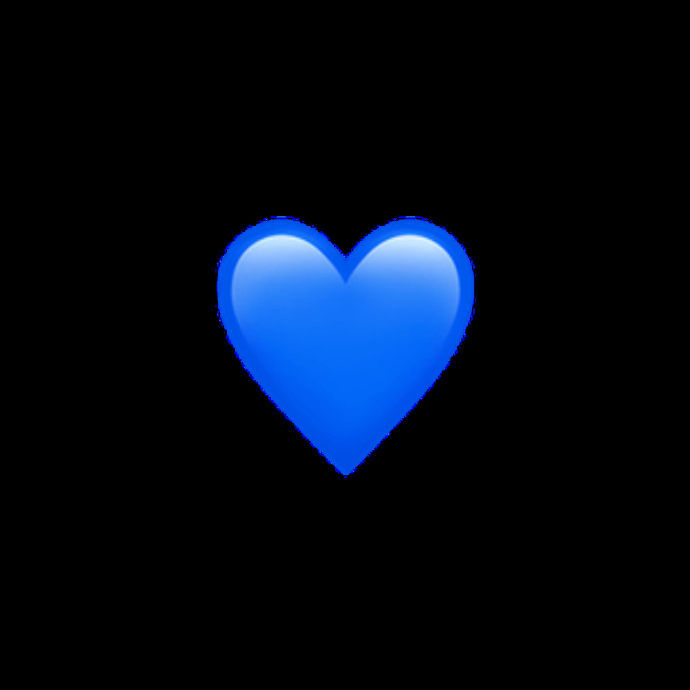 blue heart hearts emoji apple imoji applemoji...