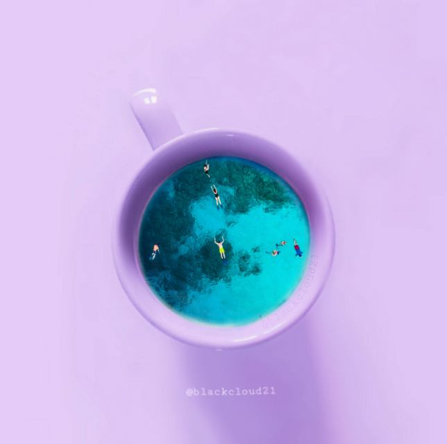 Original image from @whitecloud21 #madewithpicsart #madebyme #cup #colorful #people #swimming #swim #sea #magical #lightblue @picsart #remixed from @whitecloud21