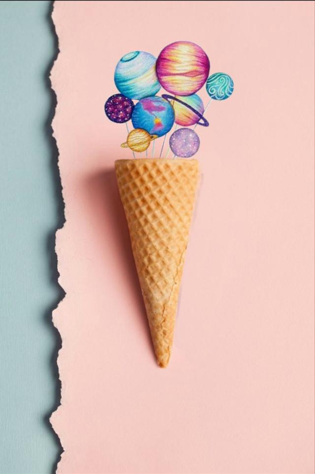 #freetoedit #icecream #planets