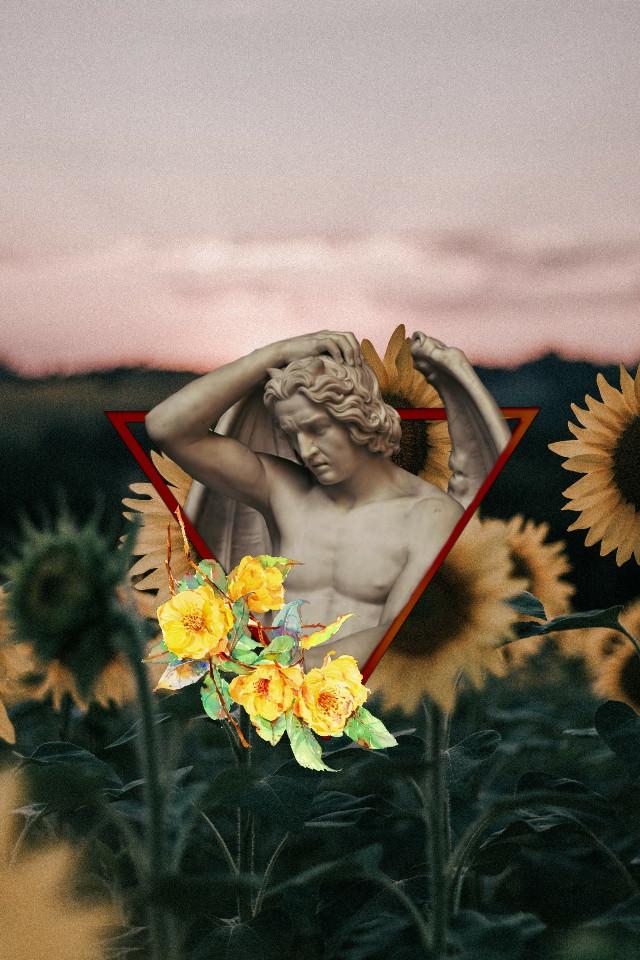 Yellow🌻 #freetoedit  #architecture #art #archeology #sculpture #sculptures #flowers #yellow #yellowaesthetic
