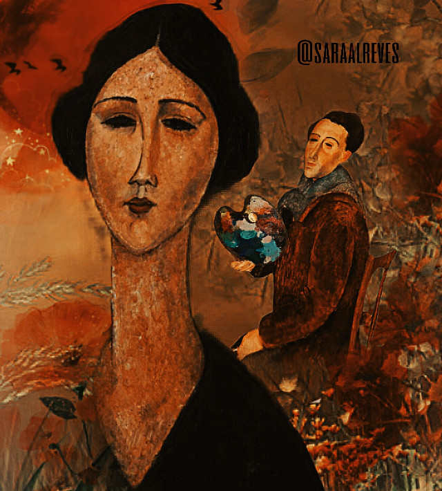 Amedeo Modigliani 1884 - 1920 #editedbyme #lovetoart #freetoedit  #ircfineartfridayam
