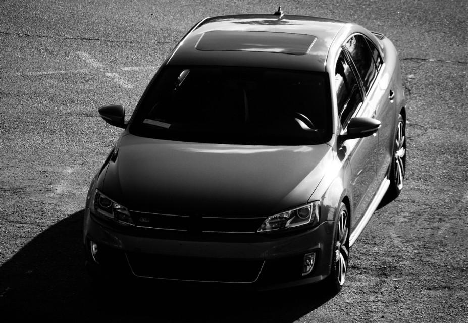 #blackandwhite #shadow #car #vwgli #vw #vwlove #sandiego #california