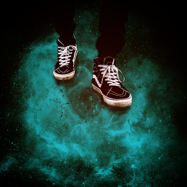 Loneliness means Absolute Freedom...!  تنهایی یعنی آزادیه مطلق...!   #freetoedit #shoes #blue #gm #stars #black #photography #art