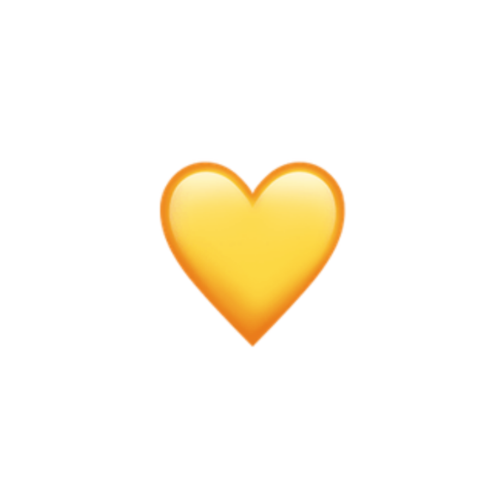 Latest Yellow Aesthetic Stickers - wallpaper Yellow Heart Emoji