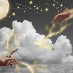 freetoedit cloud sky hands aesthetic ircwhitecloudsbluesky