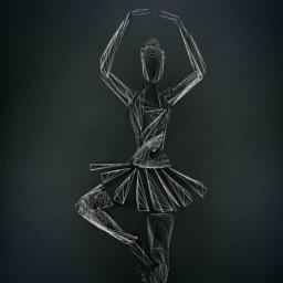 ballerina freetoedit drawing simplicity
