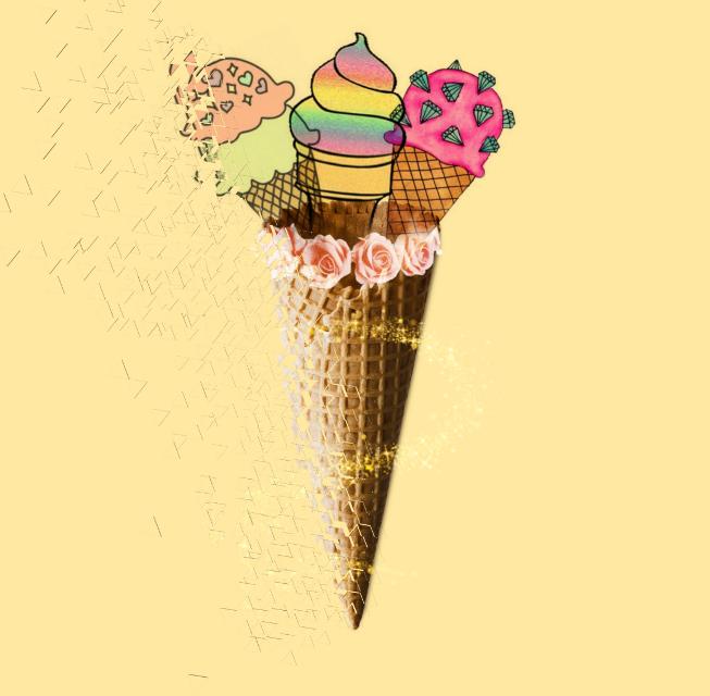 #icecream #flowers #flower #ice #cream #edit #background  #freetoedit