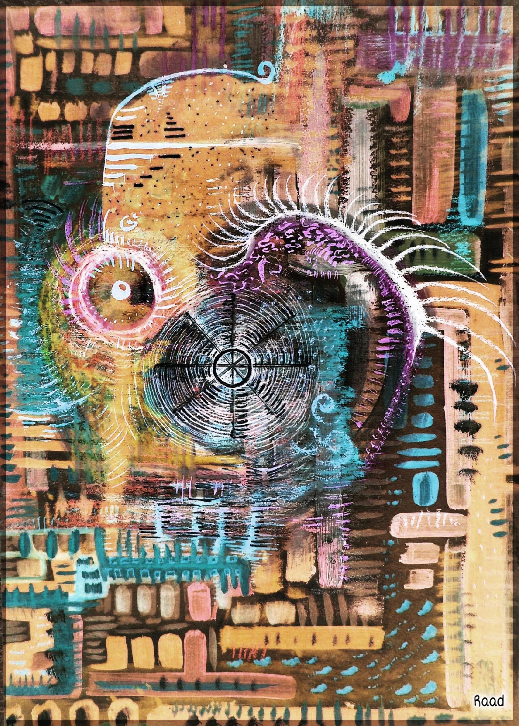 Abstract Desert Collage Art