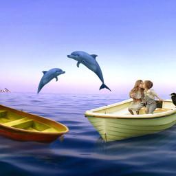 freetoedit couple biat sea dolphin