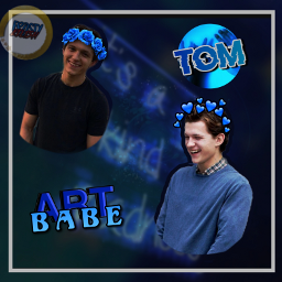 blue royalblue blueaesthetic tomholland cute