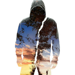 freetoedit silhouette doubleexposure nature