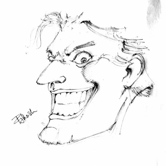 Did it sometime ago!! Just doodling the JOKER. #DC #comics #joker