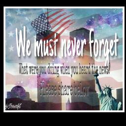 wemustneverforget 911 september11 twintowers nyc freetoedit