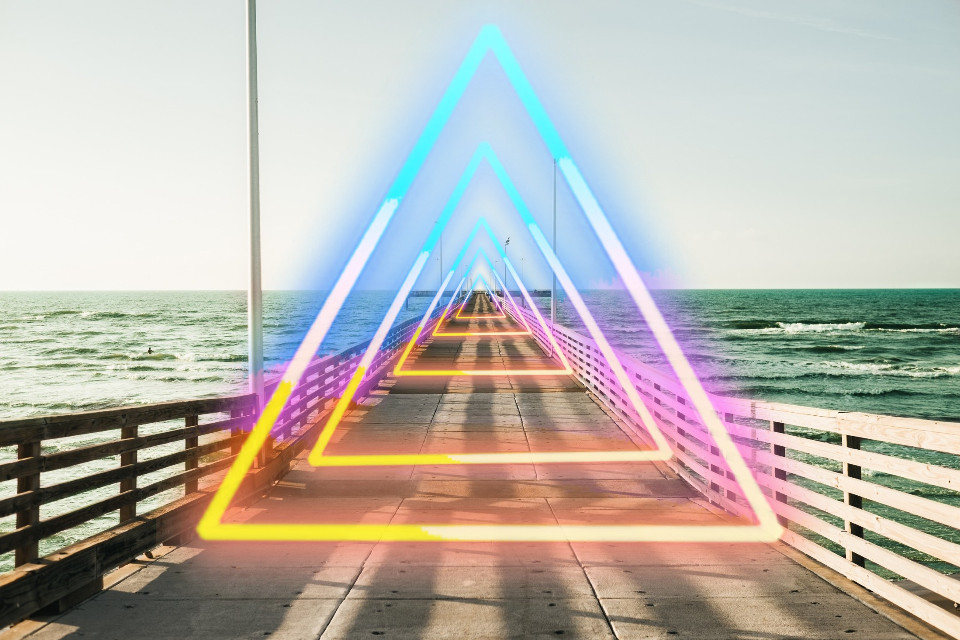 #freetoedit #bridge #sea #triangle