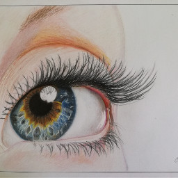 eye drawing colorpencils mydrawing colorful blue realistic