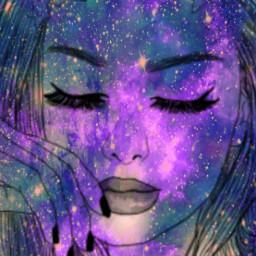 freetoedit galaxy girl fashion galaxyhair