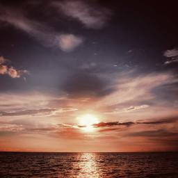 travel sunset ocean pacific artistic