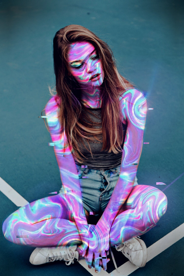 #freetoedit @picsart @freetoedit #holographic #colors #girl #woman #inspiration #creative