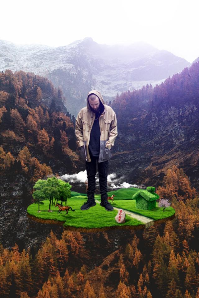 #freetoedit #man #mountain #island #nature
