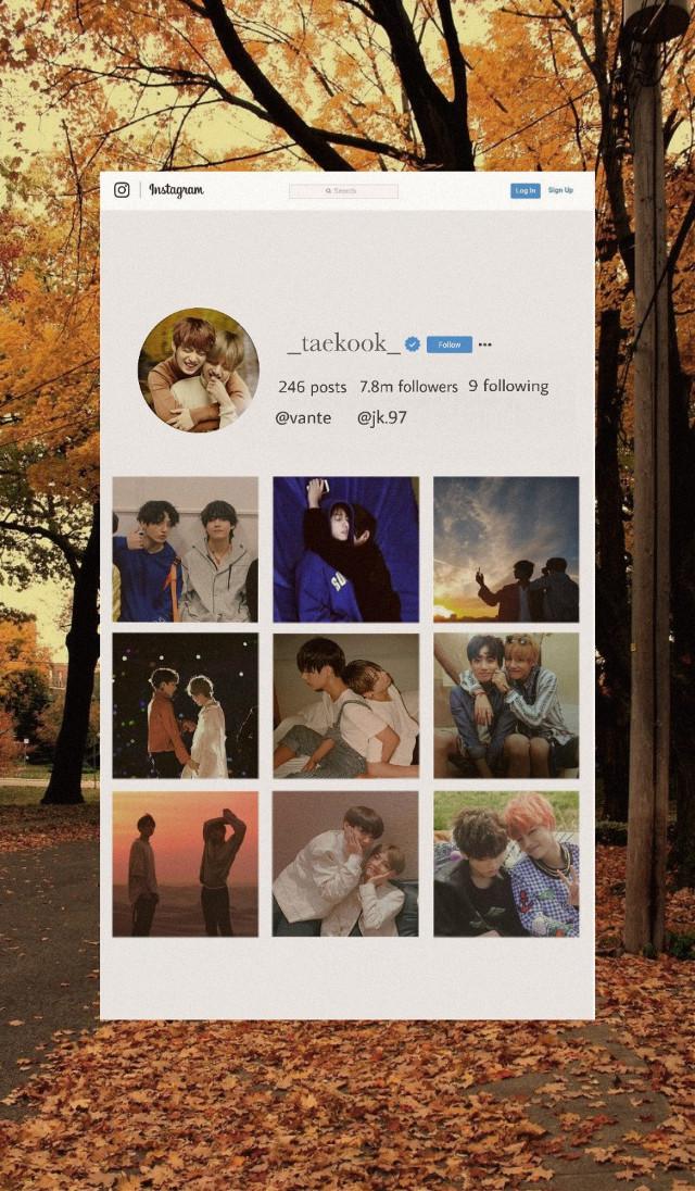 #freetoedit  #bts #taekook #instagram #jungkook #taehyung