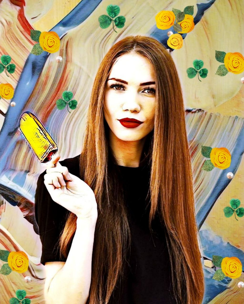 #freetoedit #edit by Smartphones #girl #woman #flower #flowers #yellow #colorful#picsart  #beautifulbackground #beautifuledit #remix #remixed