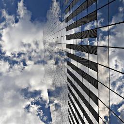 freetoedit skyscraper sky clouds blue pcskyscrapers pcskyscraper