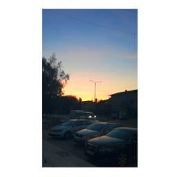 suceava sunset colourfulsky urbansunset cars