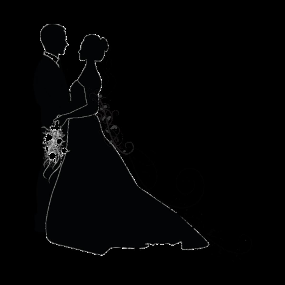 Wedding Couple Clipart Png: Love Liebe Hochzeit Wedding Silhouette Brautpaar Schwar