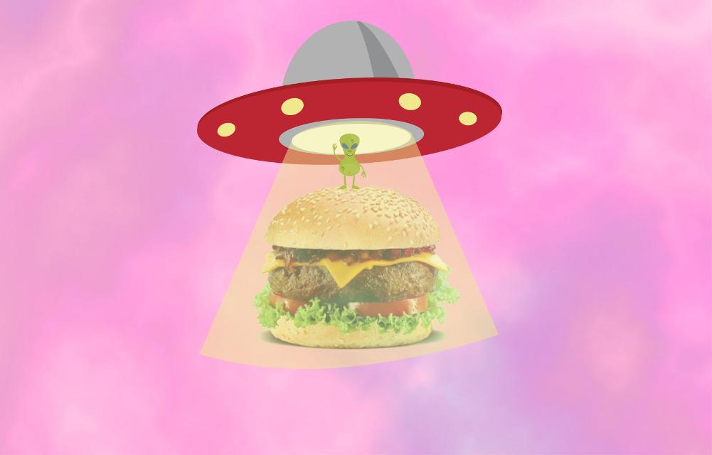 #freetoedit @freetoedit #remix #ufo #hamburger