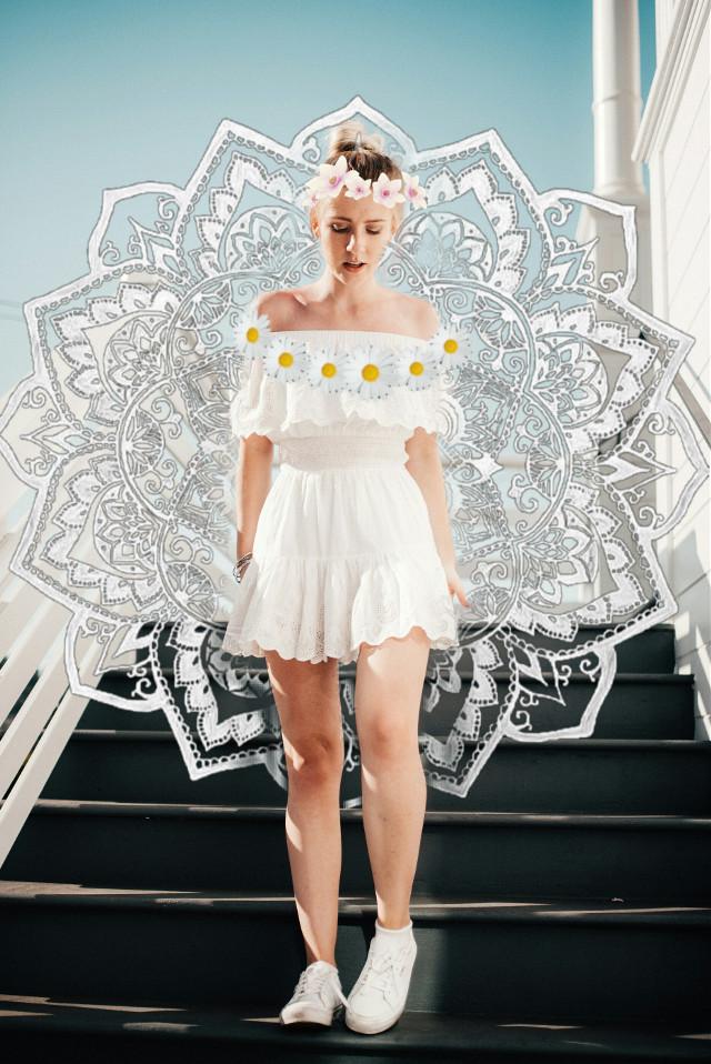 #freetoedit  #white #sun flower